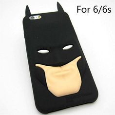 Fashion 3D Cartoon Stitch Batman Rubber Soft Cute Back Cover Skin for iPhone 6 6s 4.7'' Funny McDonald's Fries Baymax Phone Case