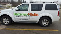 FASTSIGNS of Menomonee Falls applied vehicle graphics, for Batteries Plus. Check us out at fastsigns.com/452, call us at #262-253-0799, email us at 452@fastsigns.com, or come visit us at W173N9170 St. Francis Drive, Suite 1, Menomonee Falls, WI 53051