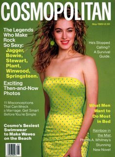Cosmopolitan magazine, MAY 1989 Model: Elaine Irwin Photographer: Francesco Scavullo