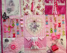 NeW NeW NeW Victorian ShAbBY Chic PINK Fidget Activity Tactile Sensory Quilt Alzheimers autistic dementia anxiety brain trauma pt