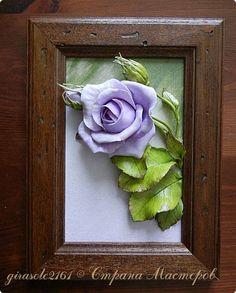 Картина панно рисунок Лепка Роза Краска Фарфор холодный фото 1