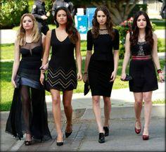 The PLL girls always look great in black!