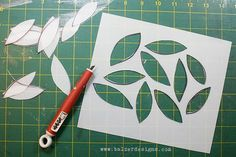 Tips for making plastic stencils. Good mixed media lesson plan idea at bottom!