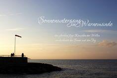 Sonnenuntergang am Strand - Warnemünde und Ostsee - Land und Leben