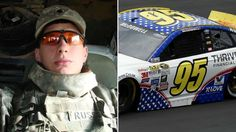 Ryan D. Russell/No. 95 Leavine Family Racing Ford of Michael McDowell Michael Mcdowell, Combat Medic, Killed In Action, All Cars, Car Ins, Role Models, Ford, Army, Military
