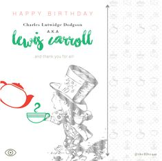 "This was yesterday but ""mejor tarde que nunca"" #HappyBirthday #LewisCarroll THANK YOU! #AliceInWonderland #theIDteam"