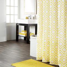 Rideau de douche imprim rideaux de douche salle de bain for Miroir bouclair
