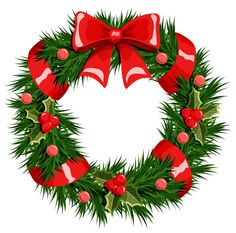 Transparent Christmas Wreath PNG Clipart