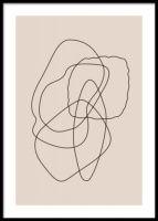 Abstraction (50x70) Nordic Design, Scandinavian Design, Buy Posters Online, Art Online, Art Minimaliste, Shape Posters, Paint Line, Nordic Interior, Modern Art Prints