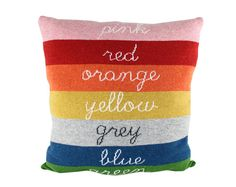 Large wool / leather pillow  Colors 23x23 by ColetteBream on Etsy, $186.00