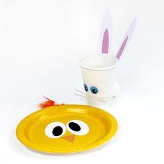 imprimibles gratuitos de FIESTA FACIL para adornar el menaje de tu fiesta de primavera o tu fiesta de Pascua - de www.fiestafacil.com
