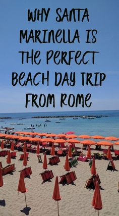 Santa Marinella is only a thirty minute train ride away from Rome!