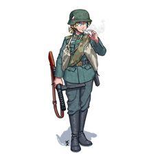 Anime Military, Military Girl, Fantasy Comics, Anime Fantasy, Cool Anime Girl, Girls Frontline, Anime Naruto, Germany Ww2, Hero