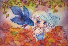 https://flic.kr/p/ASoi1u | spell | 19cm x 28cm / watercolor on paper / 2015  *sold*