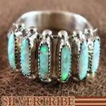 Zuni Indian Sterling Silver Opal Ring Jewelry