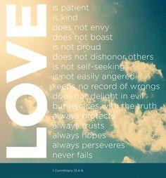 1 Corinthians 13:4-8 <3