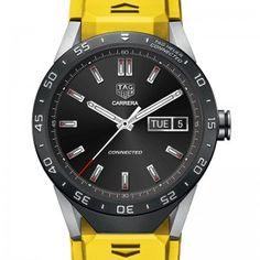 Replique TAG Heuer Connected Montre jaune bracelet SAR8A80.FT6060