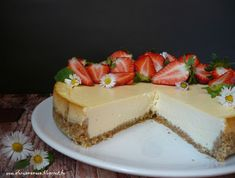 Mandulás ricotta torta Cheesecake, Ricotta, Desserts, Food, Tailgate Desserts, Deserts, Cheesecakes, Essen, Postres