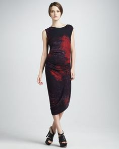 Printed Dress by Halston Heritage at Neiman Marcus.
