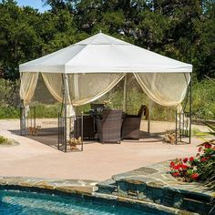 This might be a good idea for the concrete slab off the sunroom, until we get to building the screened in deck off the other half of the house out back Product: ...