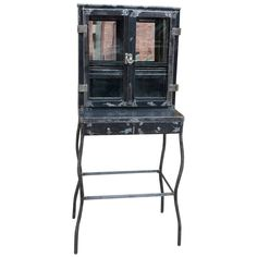 Brushed Steel Apothecary Dentist Cabinet | From a unique collection of antique and modern apothecary cabinets at https://www.1stdibs.com/furniture/storage-case-pieces/apothecary-cabinets/