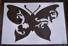 STENCILS ~ BUTTERFLY  W/ DESIGNS ~ 1 LARGE  ~ NEW!!
