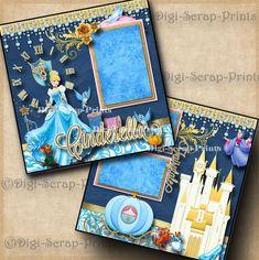 DISNEY CINDERELLA premade scrapbook pages paper piecing princess girl DIGISCRAP | Crafts, Scrapbooking & Paper Crafts, Pre-Made Pages & Pieces | eBay!