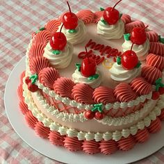 Pretty Birthday Cakes, Pretty Cakes, Gorgeous Cakes, Cake Pops, Picnic Cake, Simple Cake Designs, Pinterest Cake, Kawaii Dessert, Cute Desserts
