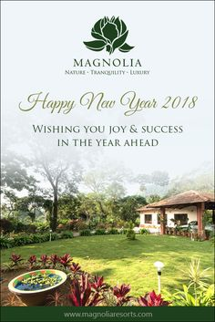 Magnolia Resorts Wishes You A New Year Filled With Health, Happiness, and Spectacular Success. Happy New Year 2018!