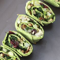 Spinach, Pear, Pecan, and Cranberry Pinwheels (need to find a rice tortillas with pesto flavoring to be gluten free)