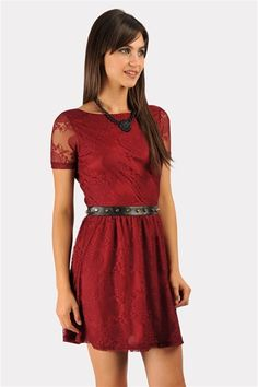 Stud Me Up Dress - Wine