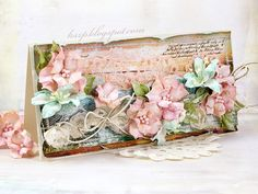 Flowery card by Guest Designer Klaudia Szpunar - Berry71Bleu February 2015 Challenge