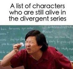 La lista dei personaggi che sono ancora vivi nella saga di divergent!