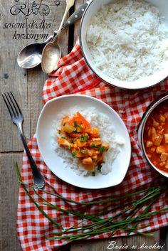 Basia w kuchni: Kurczak w sosie słodko - kwaśnym -przepis