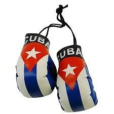 Mini Boxing Gloves - Cuba flag