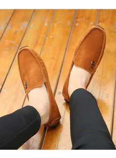 Brown music buckle leather slip on shoe loafer Mens Slip On Loafers, Mens Slip On Shoes, Leather Slip On Shoes, Loafers Men, Loafers Online, Shoe Shop, Loafer Shoes, Oxford Shoes, Dress Shoes