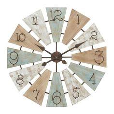 Windmill Clock, Wooden Windmill, Windmill Wall Decor, Farmhouse Wall Clocks, Farmhouse Decor, Country Farmhouse, Industrial Farmhouse, Rustic Decor, Wall Colors