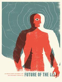 Concert Poster: Future Of Left ( Screen Print / Silk Screen / alternative rock band / Poster Art / Graphic Design )