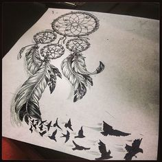 What I'm imagining for Madisyn's tattoo. On her left shoulder blade, the birds going to the right side of her back.