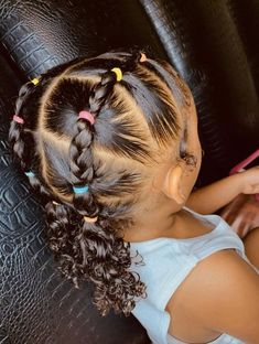 Side Curly Hairstyles, Hairstyles For Receding Hairline, Cute Toddler Hairstyles, Lil Girl Hairstyles, Black Kids Hairstyles, Natural Hairstyles For Kids, Kids Braided Hairstyles, African Hairstyles, Baddie Hairstyles