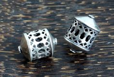 Antique Sterling Silver Beads 2 Rare by SmallWorldofTreasure,