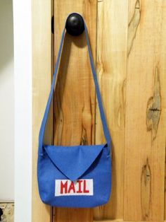 Kids: felt mail bag, mail, and box