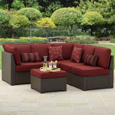 Better Homes and Gardens Rush Valley 3-Piece Outdoor Sectional Sofa Set, Seats 5 #BHGMakeitFunEntry