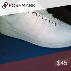 Men's K Swiss White Tennis Shoes Shoes Athletic Shoes