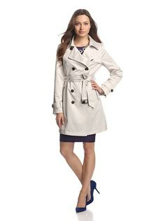 French Connection Women's Classic Trench (Cream)