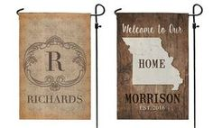 Personalized Garden Flag from Personalized Planet