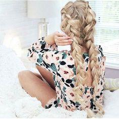 Two Braids. Recuerda Activar Notificaciones     #hair #hairstyle #instahair #hairstyles #haircolour #haircolor #hairdye #hairdo #haircut #longhairdontcare #braid #fashion #instafashion #straighthair #longhair #style #straight #curly #black #brown #blonde #brunette #hairoftheday #hairideas #braidideas #perfectcurls #hairfashion #hairofinstagram #coolhair by peinados.mujeres