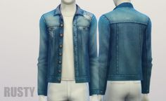 Denim jacket (9 colors) at Rusty Nail via Sims 4 Updates