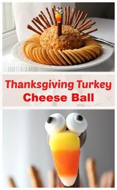 Thanksgiving Turkey Cheese Ball - Crafts a la mode Thanksgiving Appetizers, Thanksgiving Turkey, Thanksgiving Recipes, Holiday Recipes, Holiday Ideas, Thanksgiving Cookies, Holiday Snacks, Turkey Cheese Ball, Gluten Free Puff Pastry