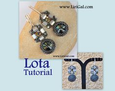 Lota RivoliTila Beadwork EarringsPendant PDF Tutorial by Lirigal